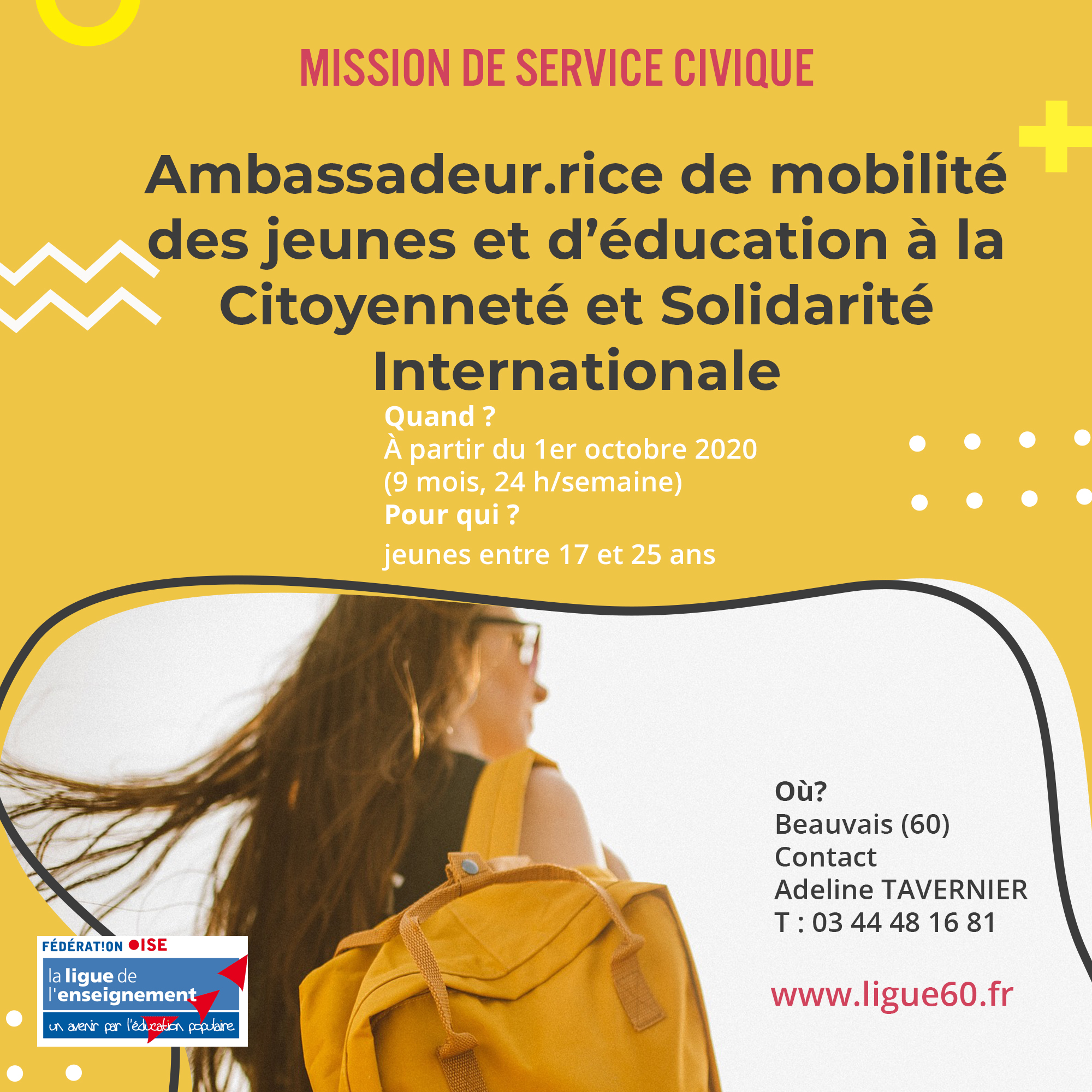 flyer service civique